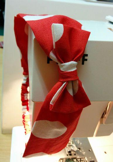 Kostenloses Schnittmuster Haarband mit Schleife von kreativlabor Berlin als e-book für Damen, Mädchen, Babies in Kategorie Sonstiges