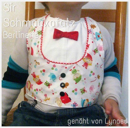Foto zu Schnittmuster Lätzchen Sir Schmackofatz von Berlinerie