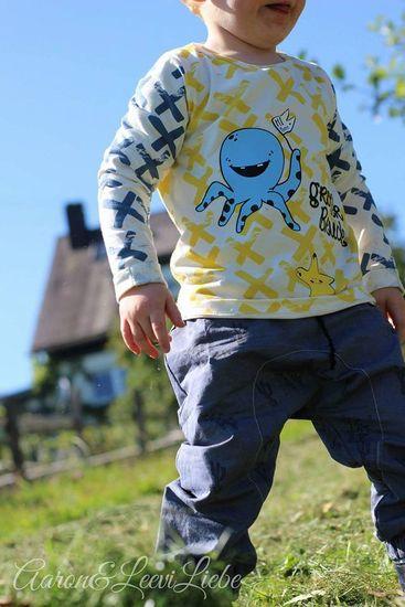 Kostenloses Schnittmuster Slinky Shirt von Leuchtkids als e-book für Babies, Jungen, Mädchen in Kategorie Oberteil (62–116)