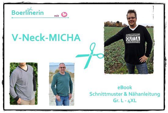 Foto zu Schnittmuster V-Neck-Shirt Micha von Boerlinerin