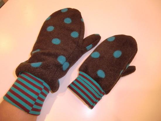 Schnittmuster Handschuhe zum Wenden von Leni Pepunkt