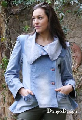 Schnittmuster Upcycling-Jeans-Jacke
